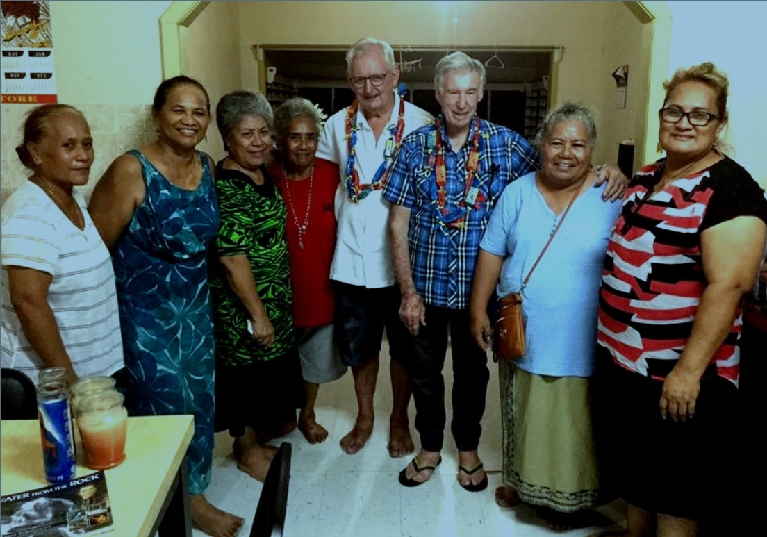 Brothers Kevin and Donald receive a farewell From American Samoa