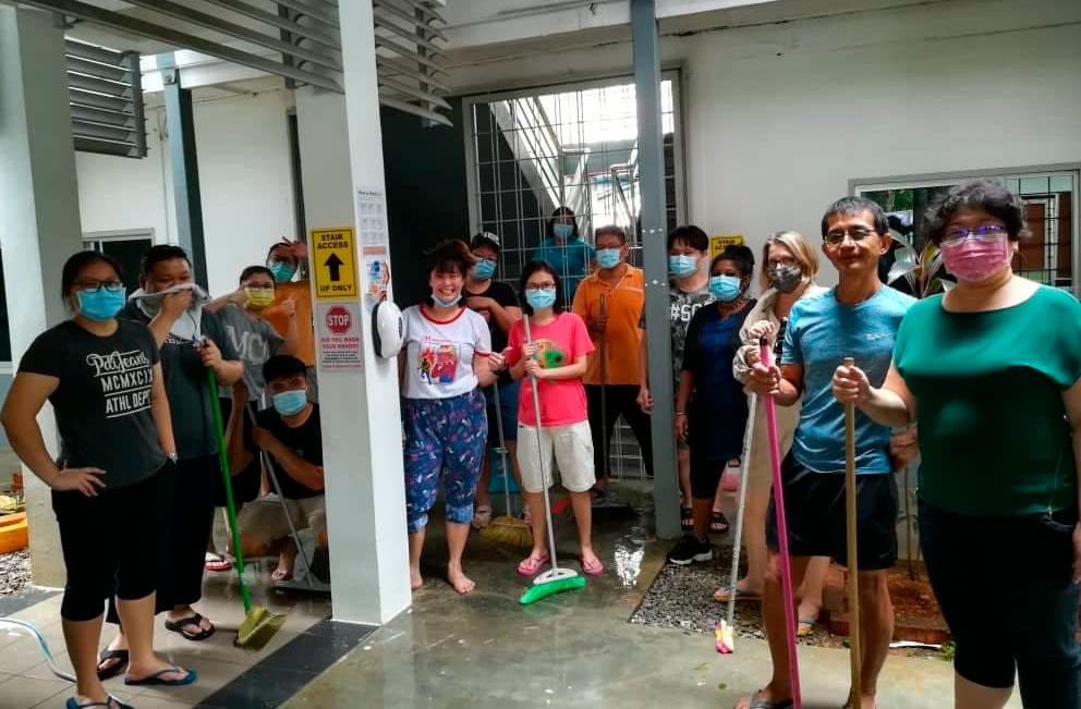 St. Joseph International School in Kuching, Sarawak, Malaysia after the flood